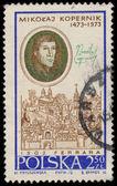 Stamp printed in Poland shows Nicolaus Copernicus — Stok fotoğraf