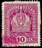 Stamp printed in Austria, shows Austrian Imperial Crown — Stock Photo