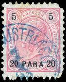 Stamp printed in the Austria shows Emperor Franz Josef I — Foto Stock