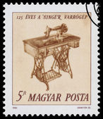 Stamp printed in Hungary, shows Singer Sewing Machine — Stockfoto