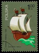 Stamp printed in POLAND shows Maritime Commission — Stock Photo