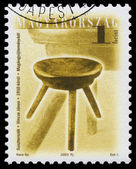 Stamp printed in Hungary shows antique chair — Fotografia Stock