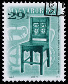 Stamp printed in Hungary shows antique chair — Stockfoto