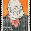 Stamp printed in Czechoslovakia shows Ernest Hemingway — Stock Photo #65005695