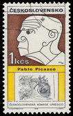 Stamp printed in Czechoslovakia shows Pablo Picasso — Stockfoto