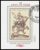 Stamp printed in Hungary shows engraver by Albrecht Durer — Stock Photo
