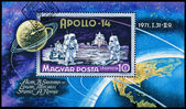 Stamp printed in Hungary, shows Apollo 14 — Stok fotoğraf