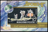 Stamp printed in Hungary, shows Apollo 11 — Foto Stock