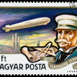 Stamp printed in Hungary shows History of Airships — Stock Photo #66846907