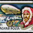 Stamp printed in Hungary shows History of Airships — Stock Photo #66847629