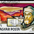 Stamp printed in Hungary shows History of Airships — Stock Photo #66847853
