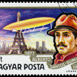 Stamp printed in Hungary shows History of Airships — Stock Photo #66848099