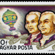 Stamp printed in Hungary shows History of Airships — Stock Photo #66848207