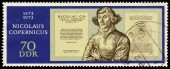 Stamp printed in Germany shows Nicolaus Copernicus — Stock Photo