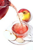 Cup of fruit tea with apple — Stock Photo