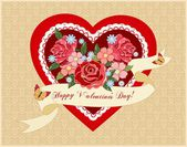 Romantic background for valentine's day — Stock Vector