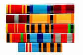 Collection Of Russian (Soviet) Medal Ribbons For Participation I — Stock Photo
