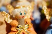 Bonecos de palha colorido bielorrussa no mercado na bielorrússia — Foto Stock