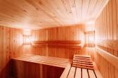 Interior Of The Sauna — 图库照片