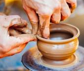 Potter and clay craft — Stock Photo