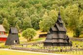 Borgund Stave Stavkirke Church And Graveyard, Norway — Stockfoto