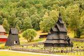 Borgund Stave Stavkirke Church And Graveyard, Norway — Foto de Stock