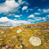 Norway Nature Landscapes, Mountain Under Sunny Blue Sky — Stockfoto