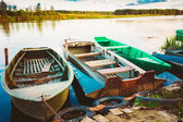 Old Fishing Boats In River — Stock Photo