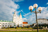 Cathedral of Holy Spirit in Minsk - the main Orthodox church of  — Stock Photo
