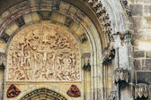 Bas-relief On Church Of Our Lady Before Tyn In Prague, Czech Rep — Stock Photo
