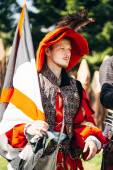 Participant of festival of medieval culture Our Grunwald — Stock fotografie