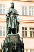 Statue Of The Czech King Charles Iv In Prague, Czech Republic  — Stock Photo