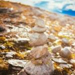 Stack Of Rocks On Norwegian Mountain, Norway Nature — Stock Photo #57634797