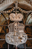 Schwarzenberg Coat-of-arms Made With Bones In Sedlec Ossuary (Ko — Stock Photo