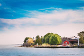 Harbour And Quay In Summer Day. Helsinki, Finland.  — Stock Photo