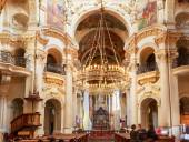 Interior Of Baroque Church Of St. Nicholas - Old Town Square in — Stock Photo