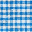 Natural Plaid Fabric Abstract Background Texture, Blue And White — Stock Photo #60532319
