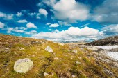 Norway Nature Landscapes, Mountain Under Sunny Blue Sky — Stock Photo