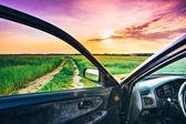 вид из окна автомобиля — Стоковое фото