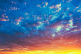 Yellow Blue Sunrise Sky With Sunlight — Stock Photo