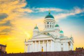 Helsinki Cathedral, Helsinki, Finland. Summer Sunset Evening — Stock Photo