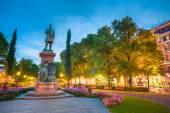 Esplanade Park. Statue Of Johan Ludvig Runeberg in Helsinki, Fin — Stock Photo