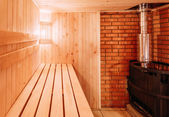 Interior Of The Sauna — Stock Photo