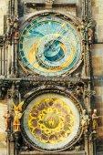 Astronomical Clock In Prague, Czech Republic. Close Up Photo — Stock Photo