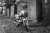 Vintage Motorcycle Generic Motorbike In Countryside — Stock Photo