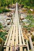 Ponte rio de montanha noruega — Fotografia Stock