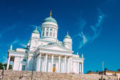 Helsinki Cathedral, Helsinki, Finland. Summer Sunny Day — 图库照片