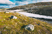 Norway Nature Landscapes, Mountain Under Sunny Blue Sky — 图库照片