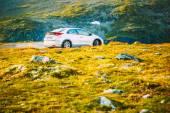 Honda Civic car on Norway nature landscape — Stock Photo