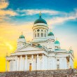 Helsinki Cathedral, Helsinki, Finland. Summer Sunset Evening — Stock Photo #66182181